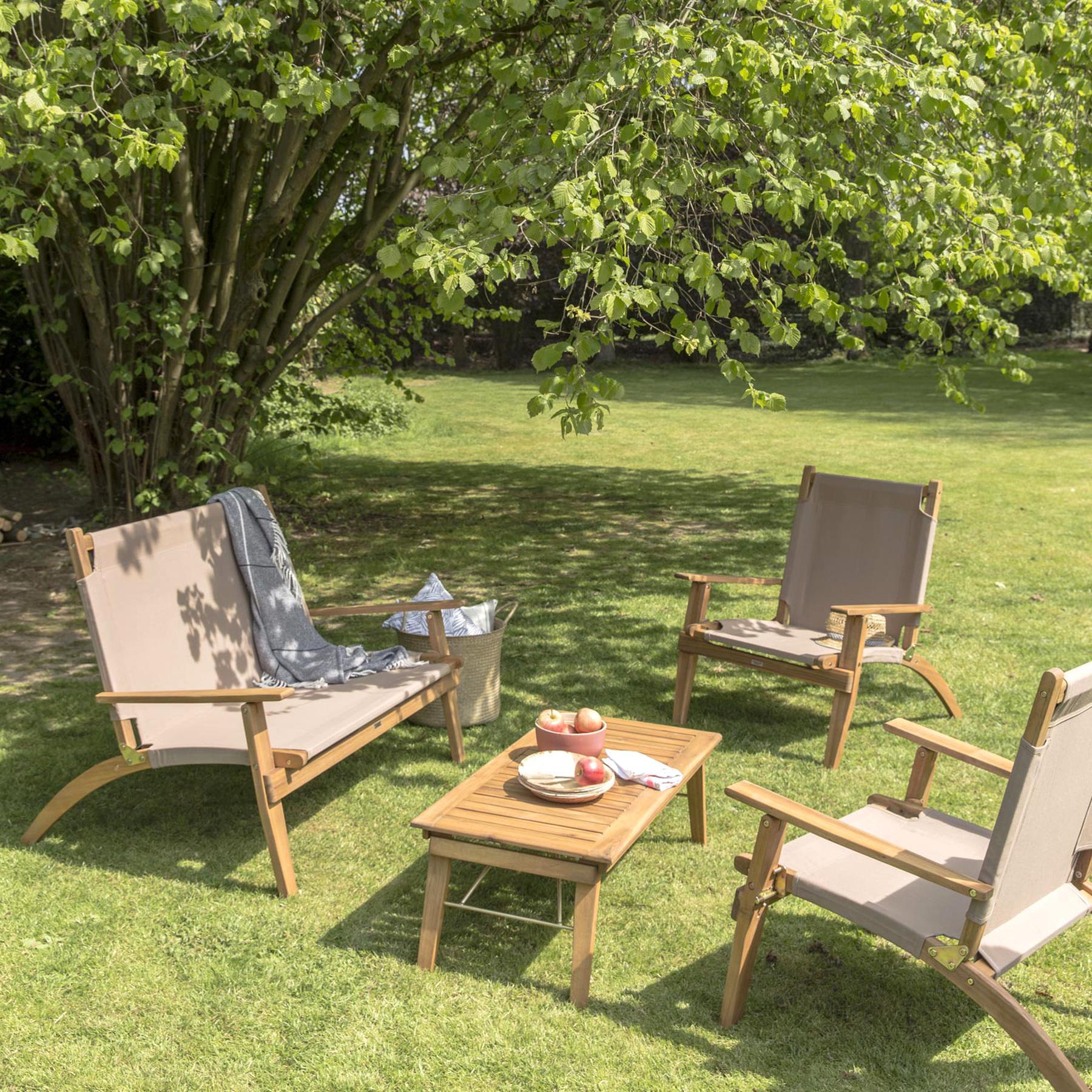 Salon Jardin Bois D'occasion | Plus Que 3 À -65% dedans Ebay Salon De Jardin
