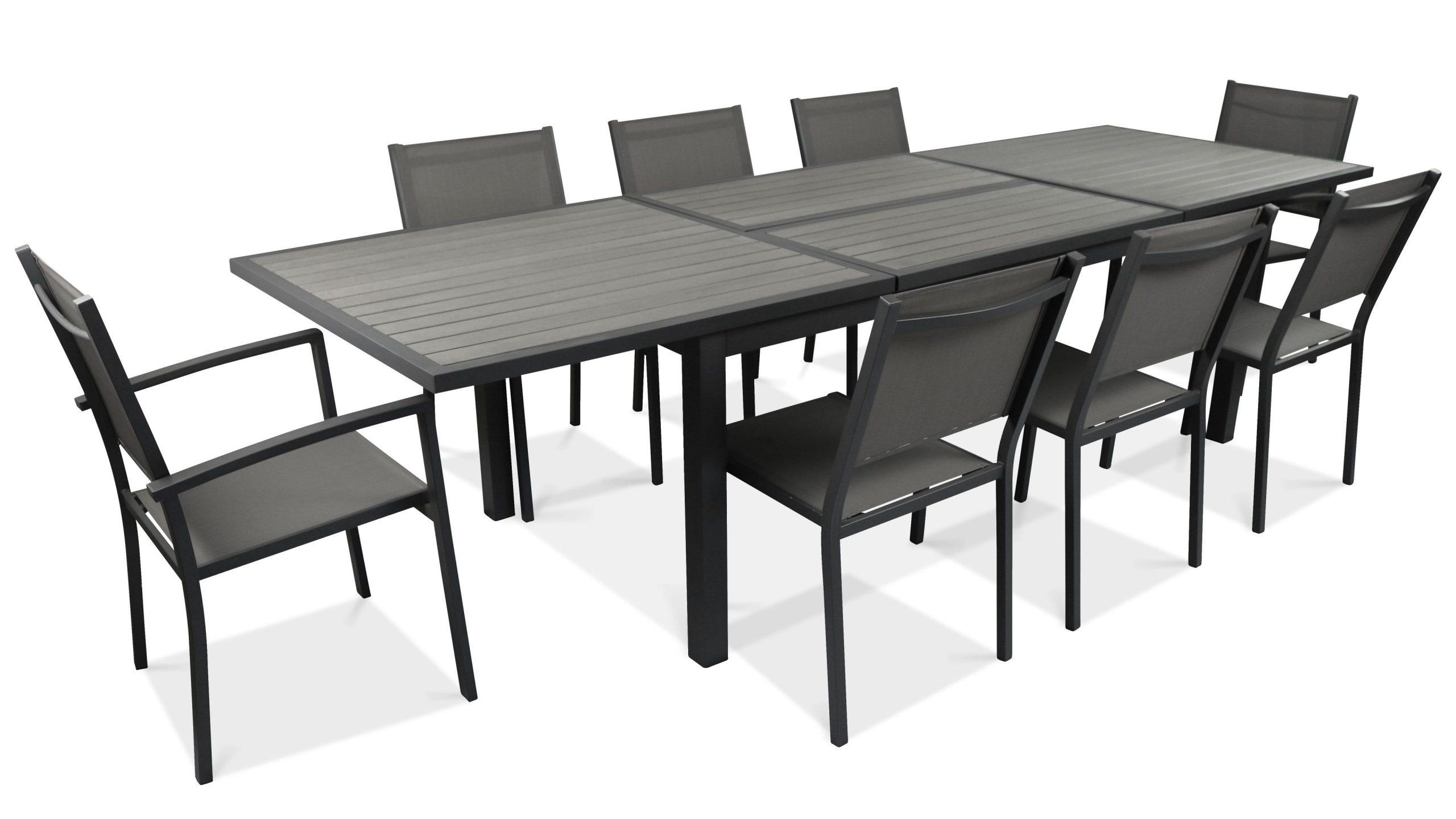 Salon Table De Jardin Extensible 10 Places encequiconcerne Table De Jardin En Solde