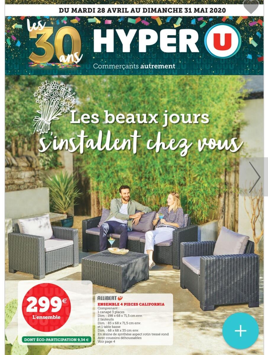 Sélection De Produits En Promotion - Ex: Salon De Jardin Des ... destiné Salon De Jardin Hyper U
