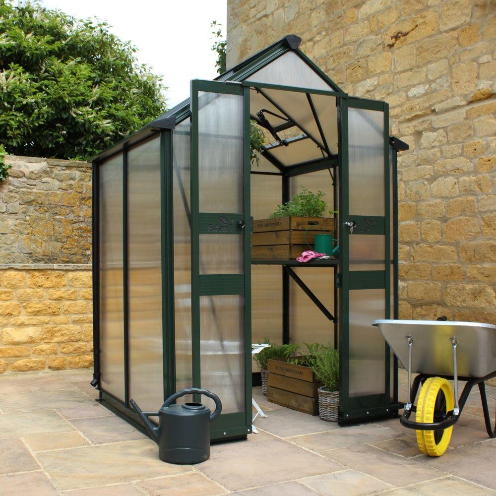 Serre De Jardin Birdlip Polycarbonate 3.80M² Sans Seuil De Porte + Embase -  Eden destiné Petite Serres De Jardin