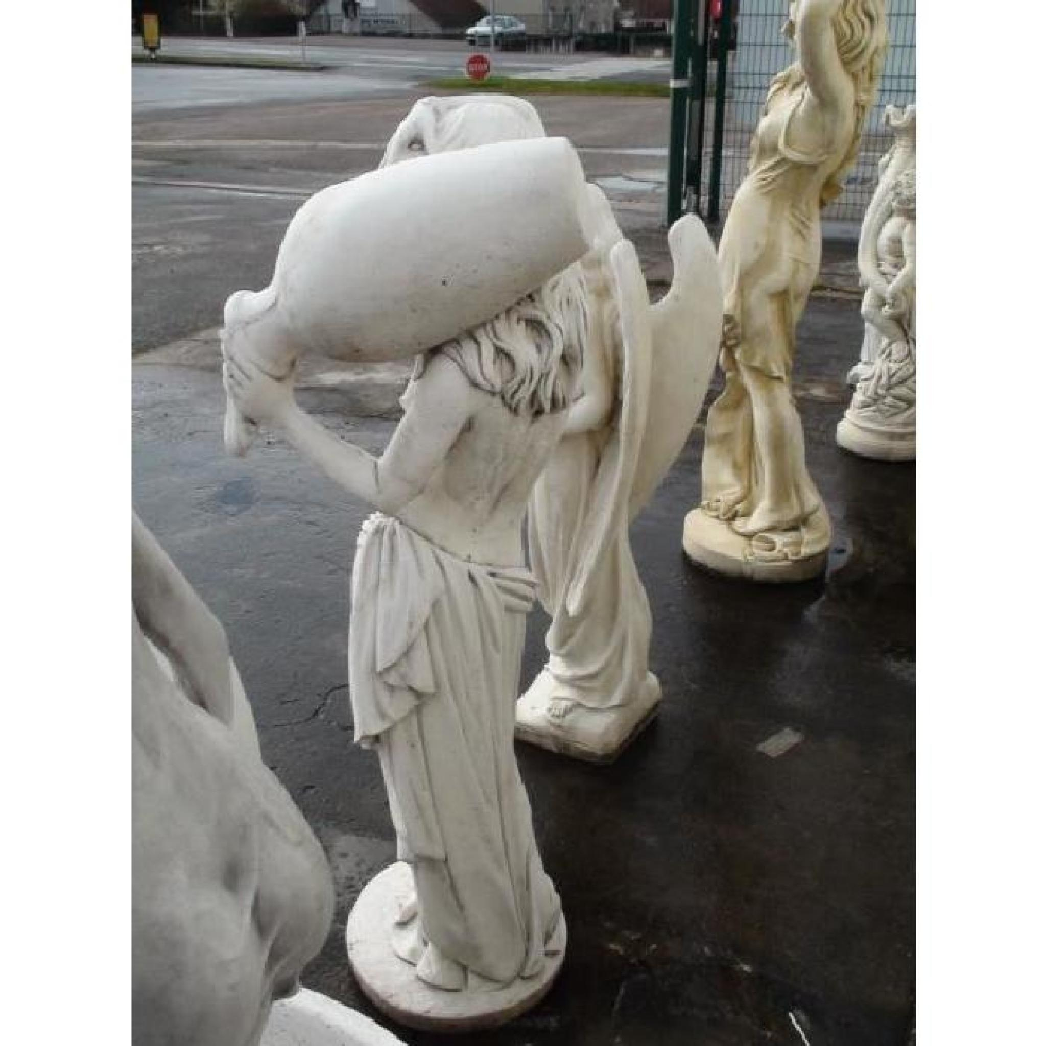 Statue Femme Esclave À La Jarre serapportantà Statue De Jardin Pas Cher