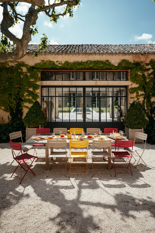 Stuhl Slim, Gartenstühle Aus Metall Und Reißfestem Tog intérieur Casa Table De Jardin
