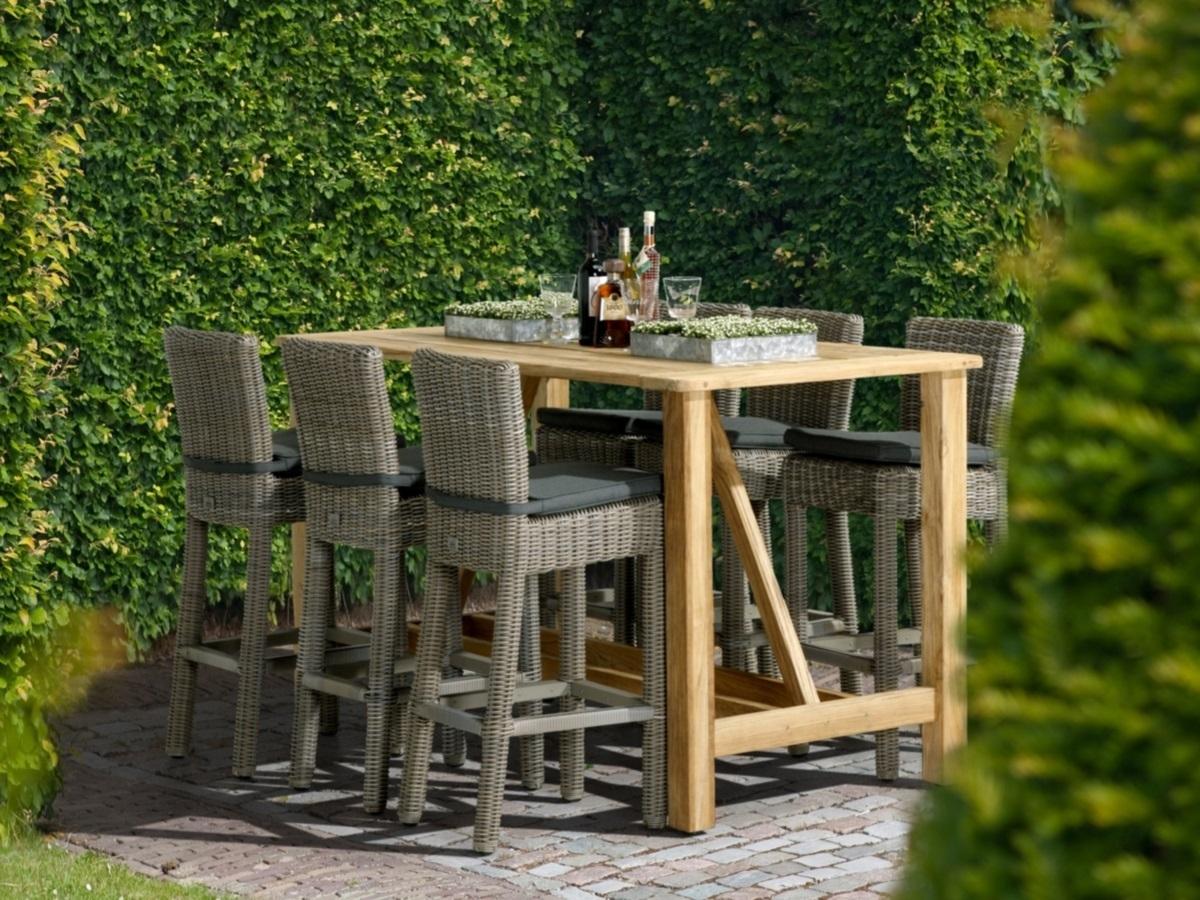 Table Bar De Jardin En Teck Recyclé Casa 180X92Cm - 4 Seasons à Casa Table De Jardin
