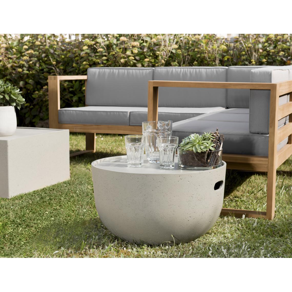 Table Coffre Ronde En Béton 58X58 Cm - Table De Jardin Pas Cher encequiconcerne Table De Jardin Design Pas Cher