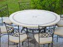 Table De Jardin Mosaïque Ronde Pierre Marbre 160-125 Imhotep intérieur Table De Jardin En Ceramique Ronde