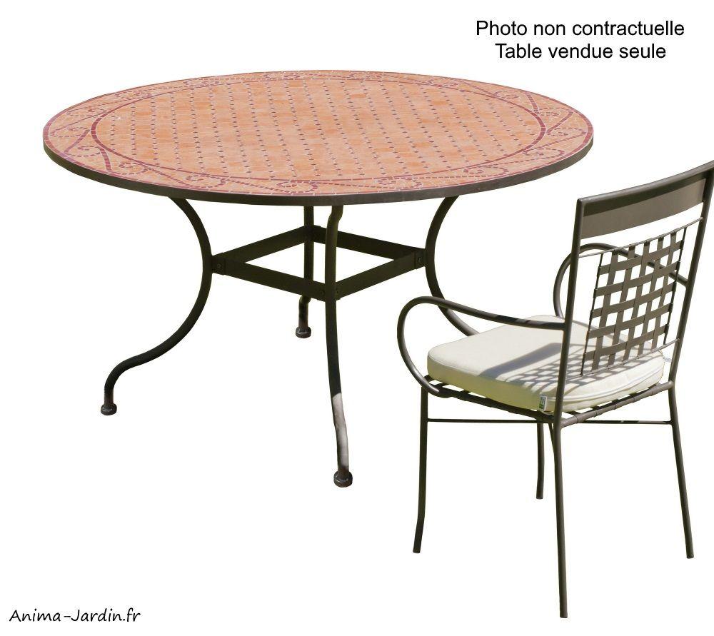 Table Mosaïque Fer Forgé, Table À Manger, Ronde, Bélice 140 ... destiné Table Ronde Jardin Pas Cher