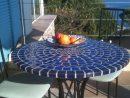 Table Mosaïque   Table Fer Forgé : Votre Table Mosaïque ... pour Table De Jardin En Ceramique Ronde