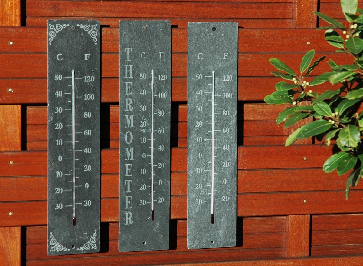 Thermomètre De Jardin En Schiste intérieur Thermometre De Jardin