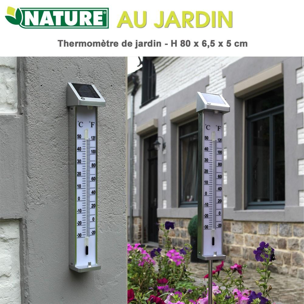 Thermomètre De Jardin Kelvin Solar 2 - H 80 X 6,5 X 5 Cm dedans Thermometre De Jardin
