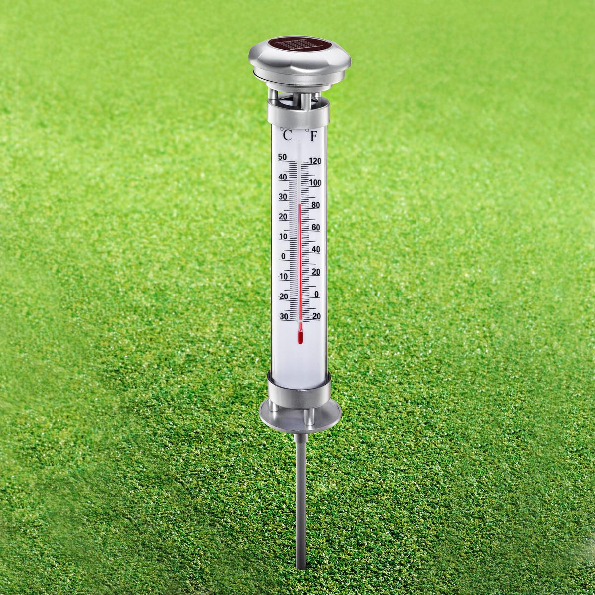 Thermomètre Solaire destiné Thermometre De Jardin