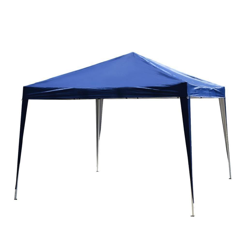 Tonnelle Barnum De Jardin Pop-Up Pliant 3L X 3L X 2,55H M Acier Polyester  Imperméabilisé Anti Uv + Sac De Transport Bleu avec Tonnelle De Jardin Gifi