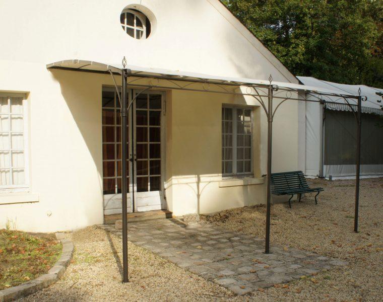 tonnelle de jardin adossée murale capri 3x4 m  avec toile