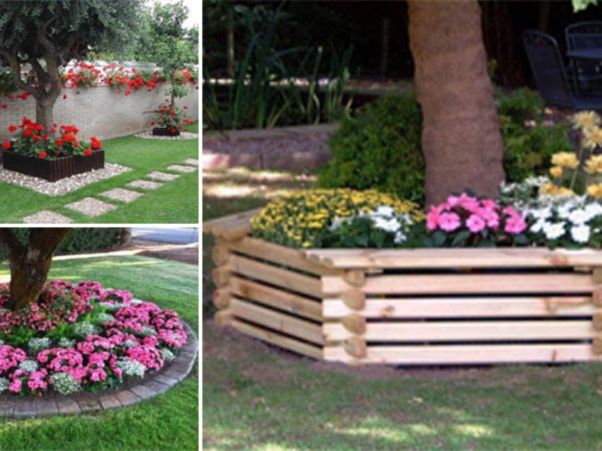 15 Décorations À Réaliser Tout Autour De Votre Arbre De Jardin tout Parterre Decoratif