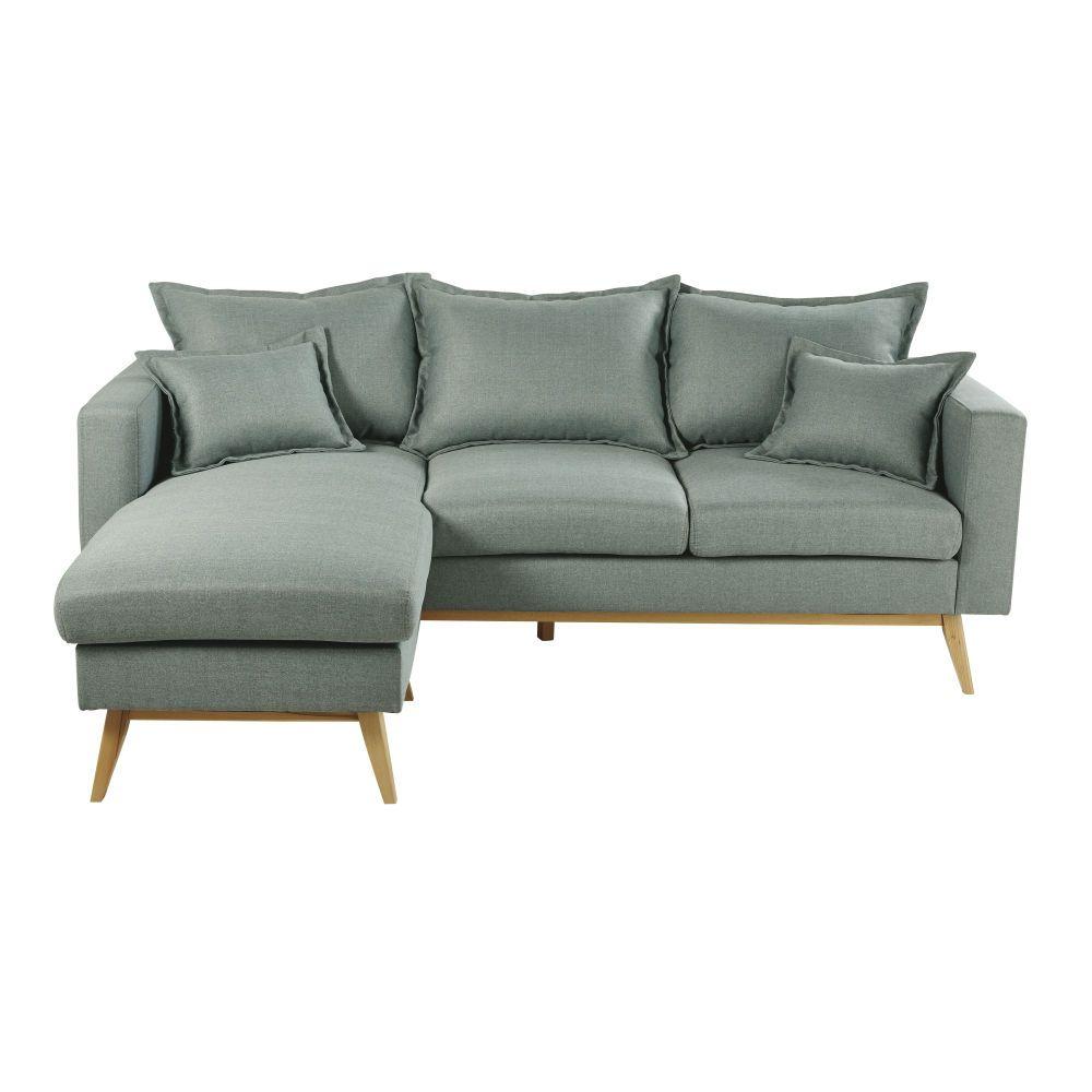 4/5-Sitzer-Ecksofa Im Skandinavischen Stil, Hellgrau ... concernant Canape Premium Confort