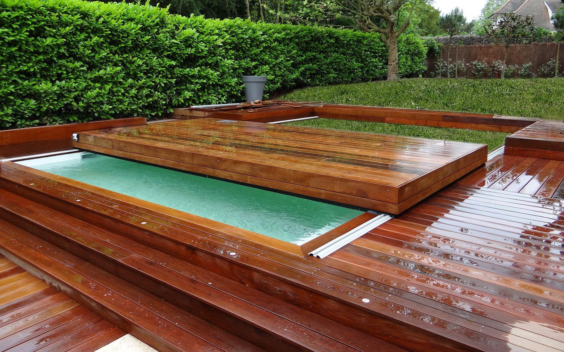 Abri #piscine #terrasse #mobile Terrasse Coulissante Pour ... serapportantà Fabriquer Une Terrasse Mobile Pour Piscine