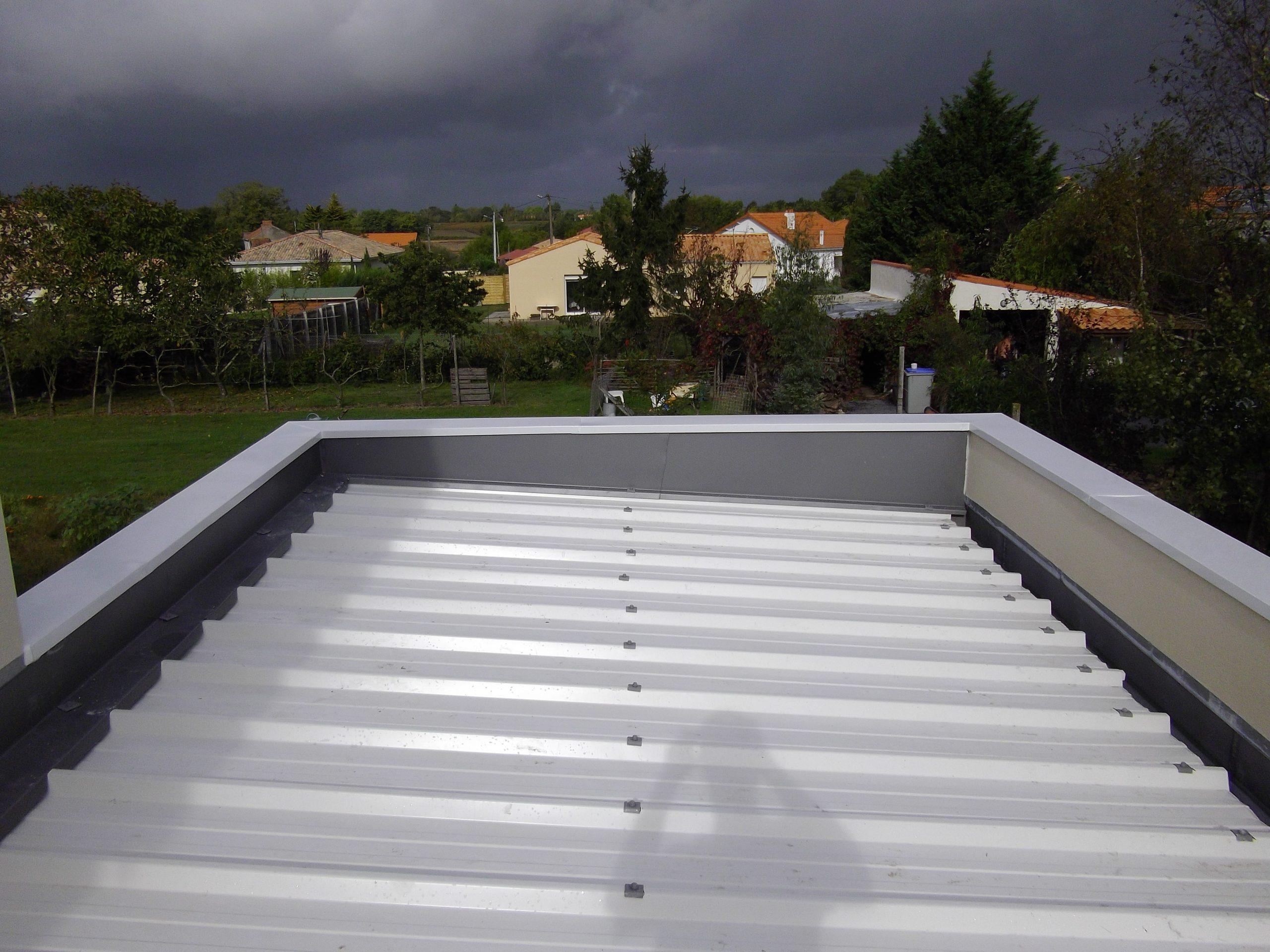Acrotère Toit Plat - Couvertine Alu - Au Bac D'eau Nantes destiné Isolation Toit Terrasse Nantes