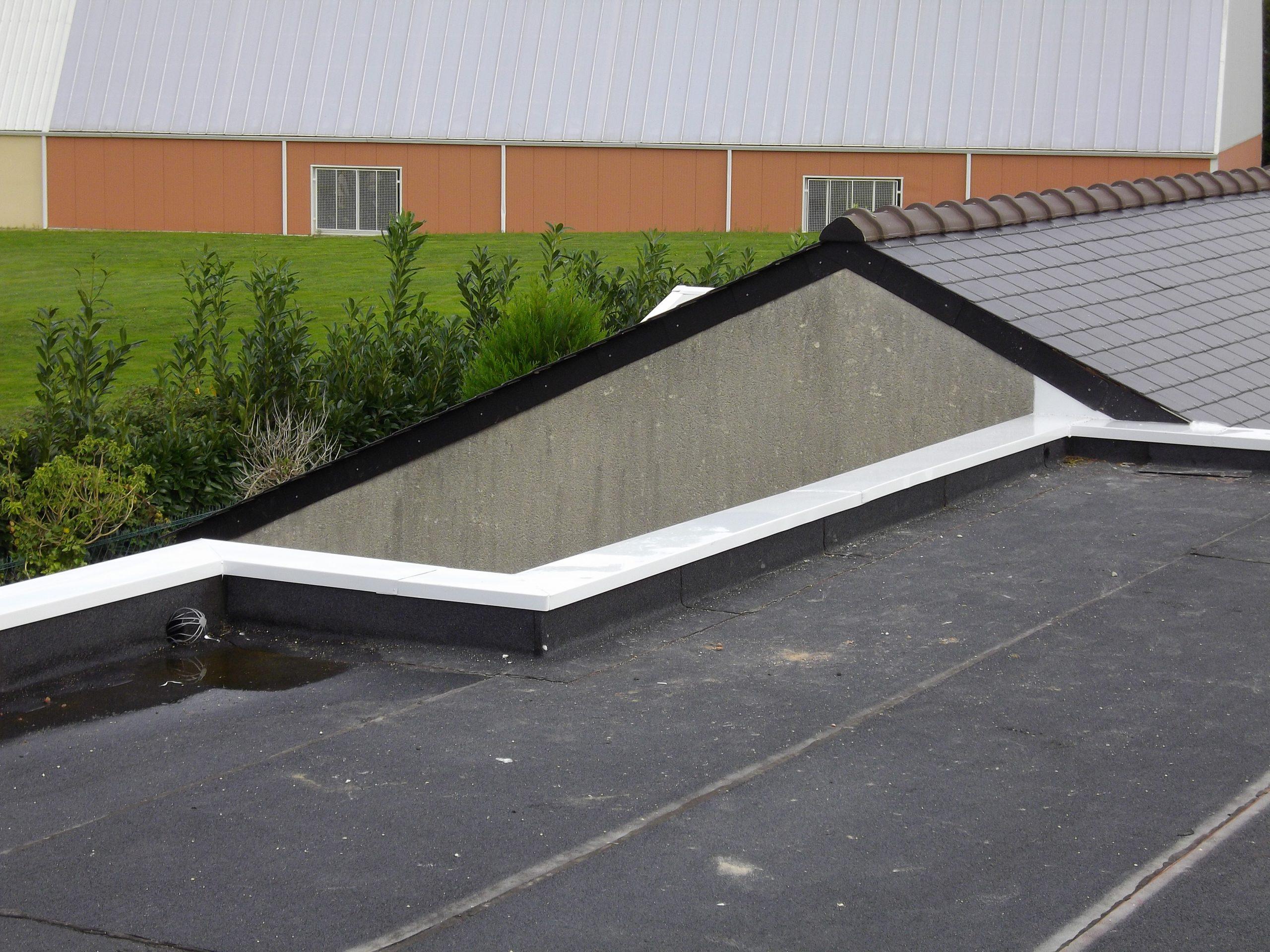 Acrotère Toit Plat - Couvertine Alu - Au Bac D'eau Nantes encequiconcerne Acrotere Bac Acier