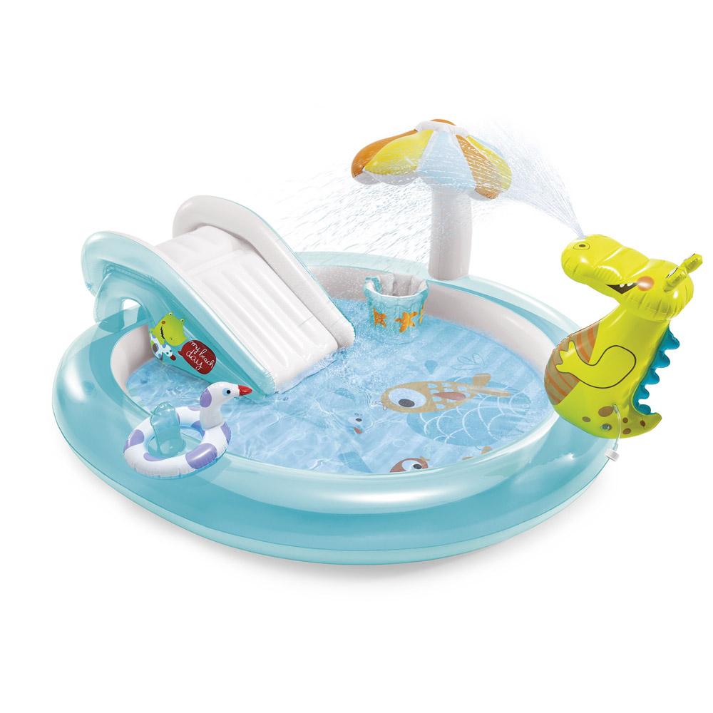 Aire De Jeux Gonflable Alligator Intex Pour Enfant concernant Piscine Intex Enfant