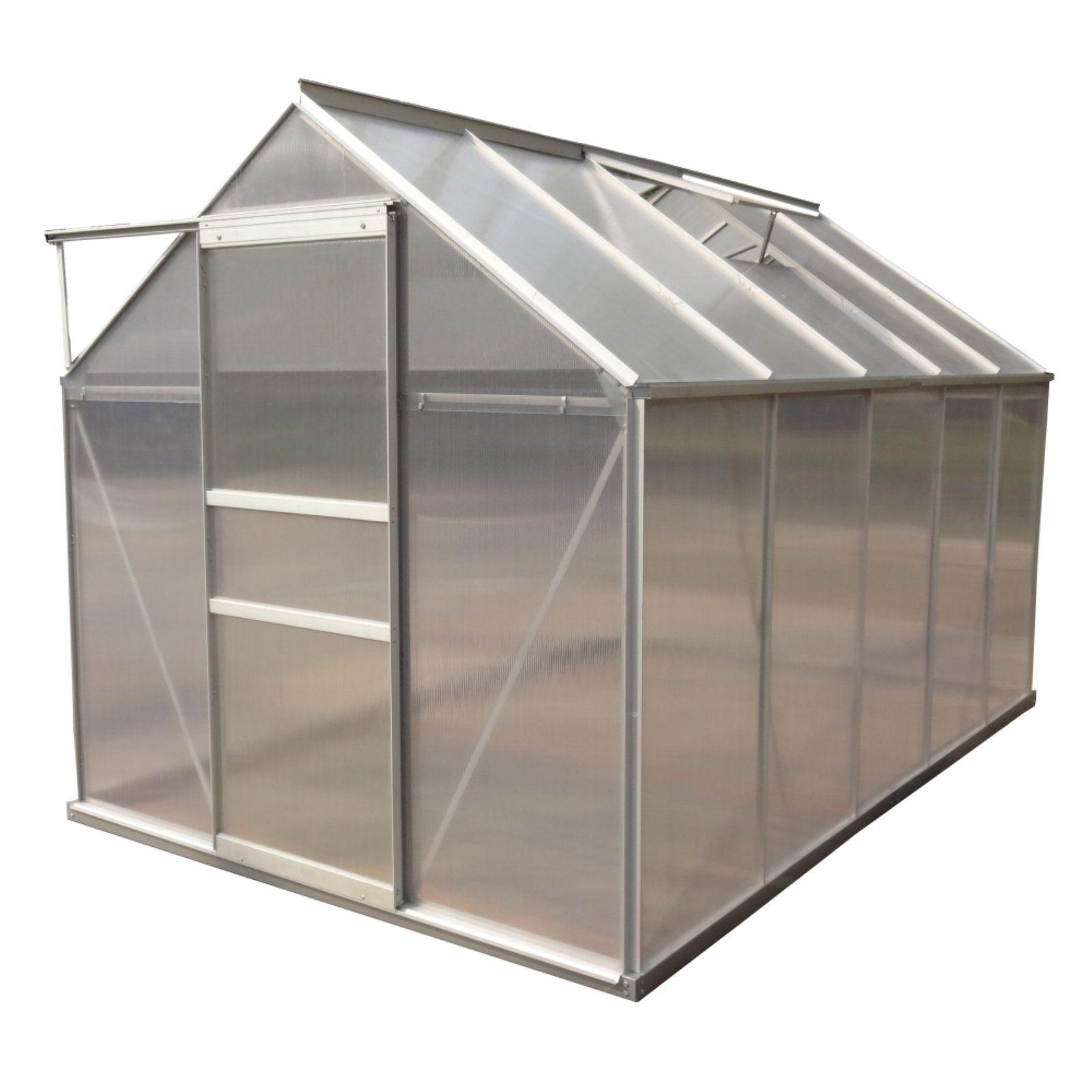 Aleko Walk In Greenhouse | Polycarbonate Greenhouse serapportantà Serre Polycarbonate 12M2