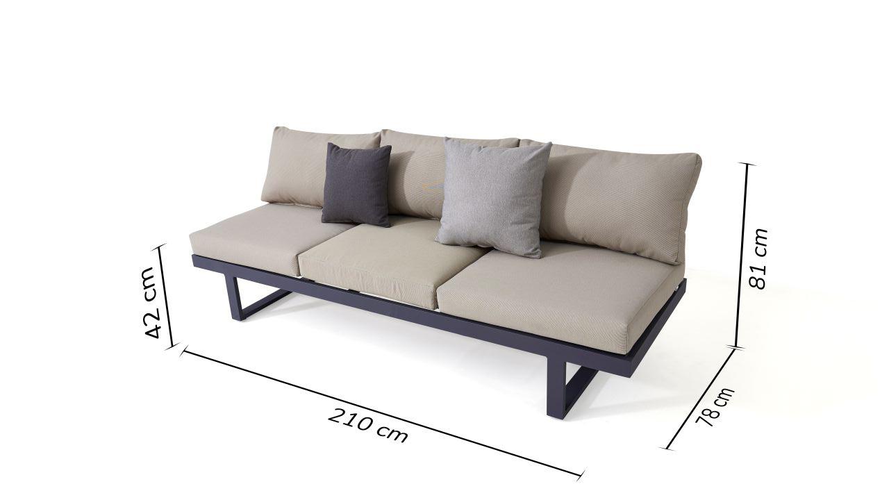 Alu Sofa Sami | Living-Zone Gartenmöbel | Living-Zone pour Canape Premium Confort