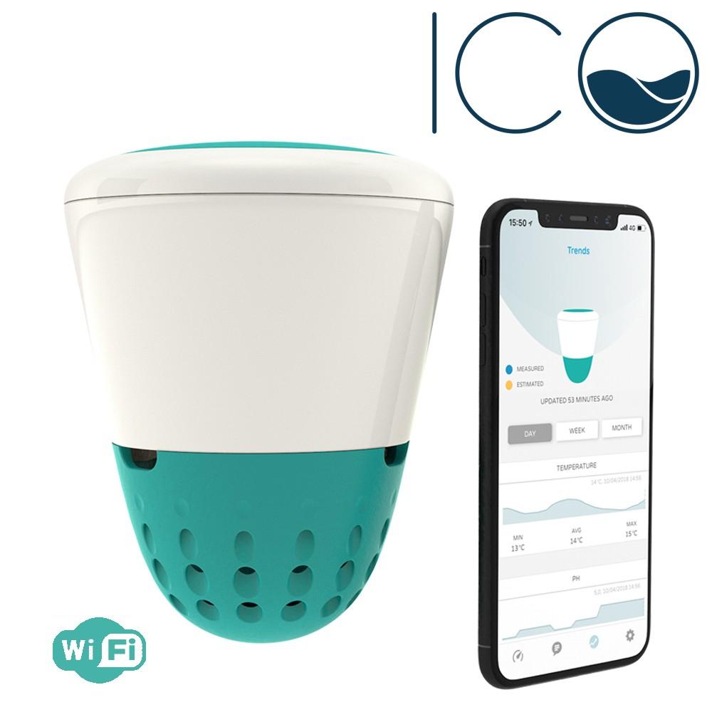 Analyseur De Piscine Wifi - Ico Îlot Connecté destiné Thermometre Piscine Wifi