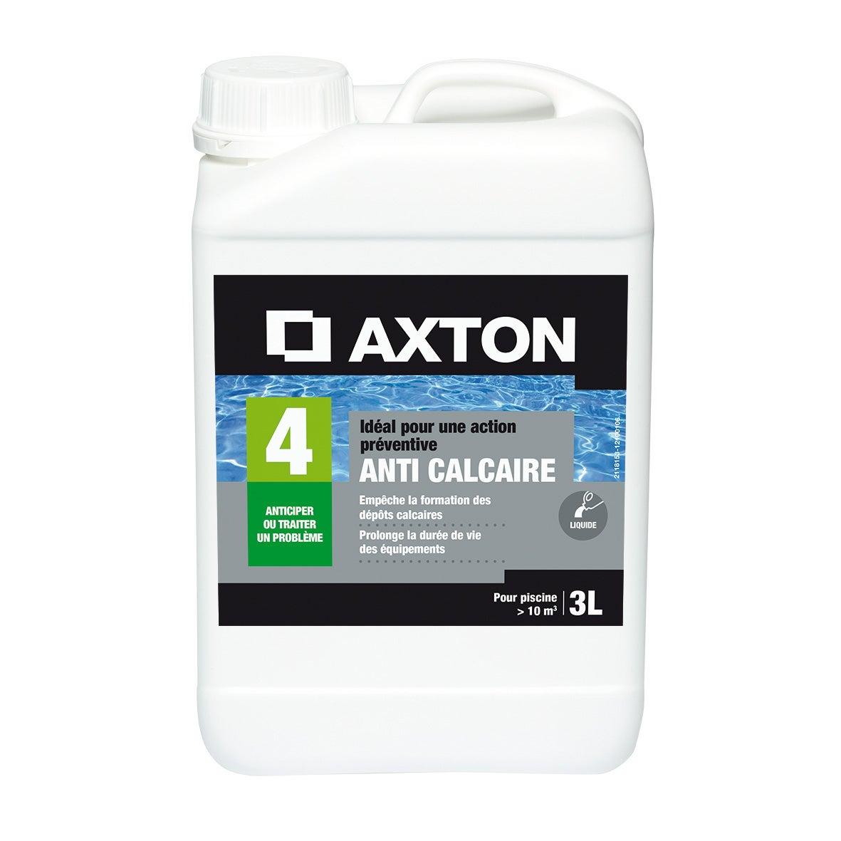 Anticalcaire Piscine Axton, Liquide 3 L concernant Produit Anti Calcaire Piscine