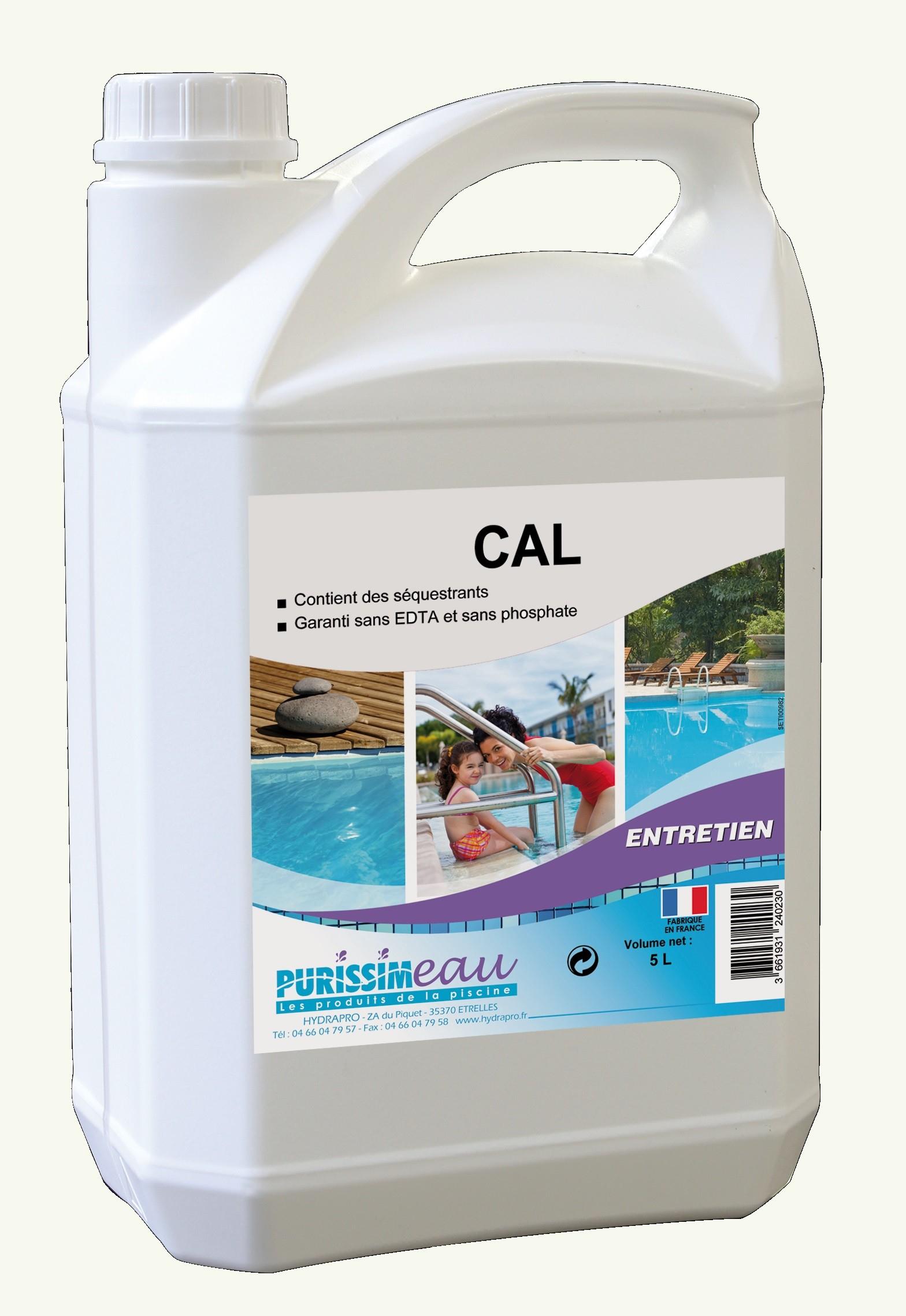 Anticalcaire Puissant Piscine Purissim'eau Cal 5L tout Produit Anti Calcaire Piscine