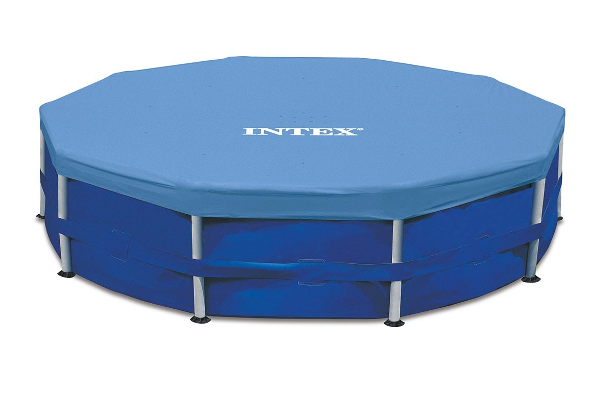 Bâche De Protection Pour Piscine Tubulaire Ronde Intex - Mr.bricolage destiné Bache Piscine Intex 3.66 Tubulaire