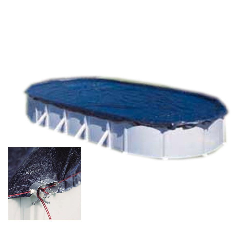 Bâche Hiver 120Gr/m² Gre 680X460 Pour Piscine Ovale - 610X375 Cm serapportantà Bache Piscine Ovale