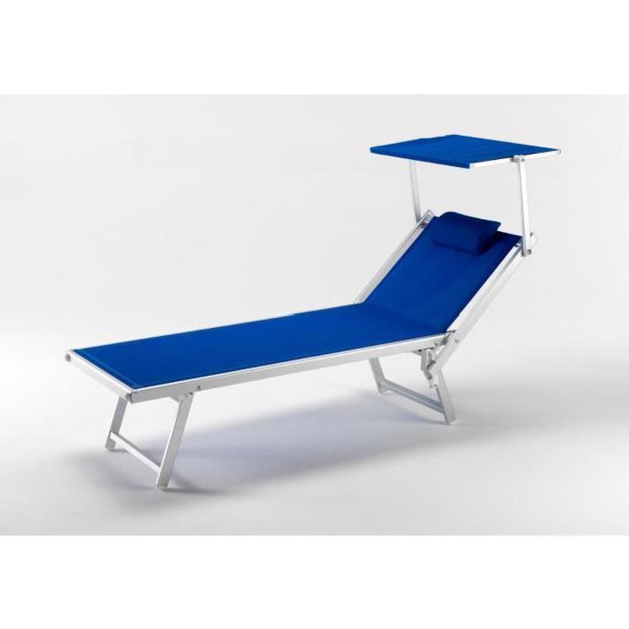 Bain De Soleil Professionnel Lit De Plage Chaise Longue Piscine Aluminium  Italia pour Bain De Soleil Piscine
