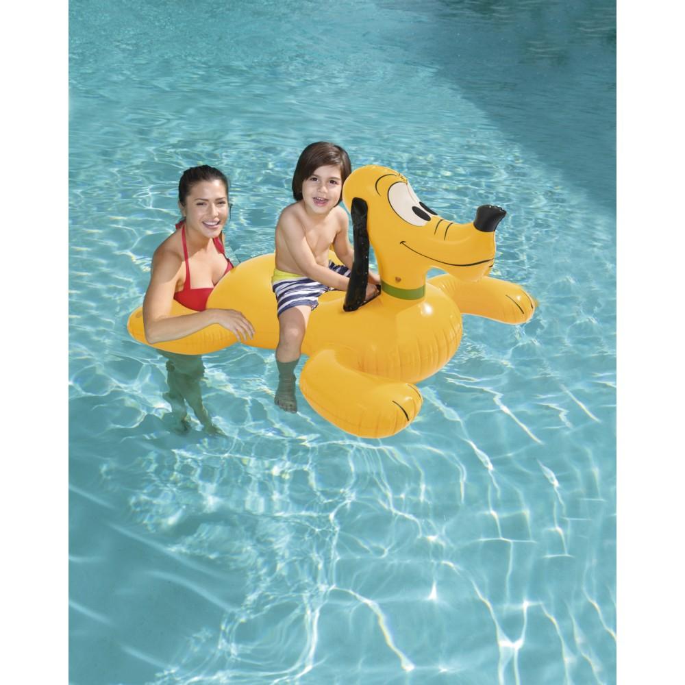 Bouée Gonflable Loisirs Disney Mickey Roadster Chevauchable Pluto Bestway tout Boué Piscine