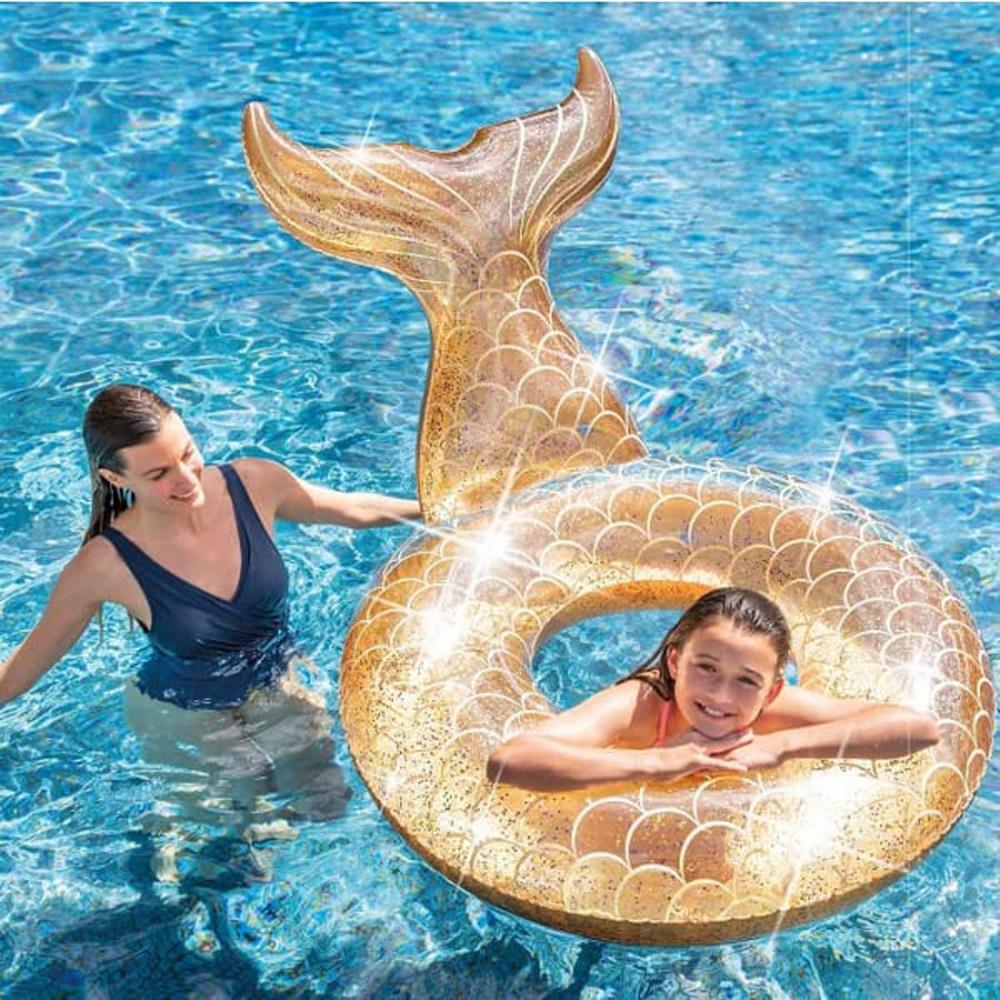 Bouee Sirene Intex Or Brillant avec Bouée Piscine Originale