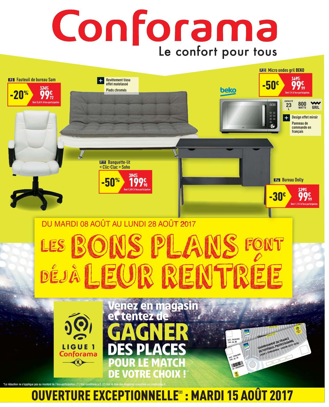 Calaméo - Conforama, Catalogue Rentree 2017 tout Canapé Chelsea Conforama