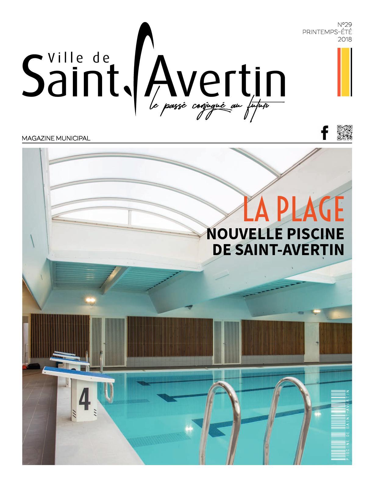 Calaméo - Saint-Avertin Magazine N°29 (Mai/aout 2018) serapportantà Piscine St Avertin