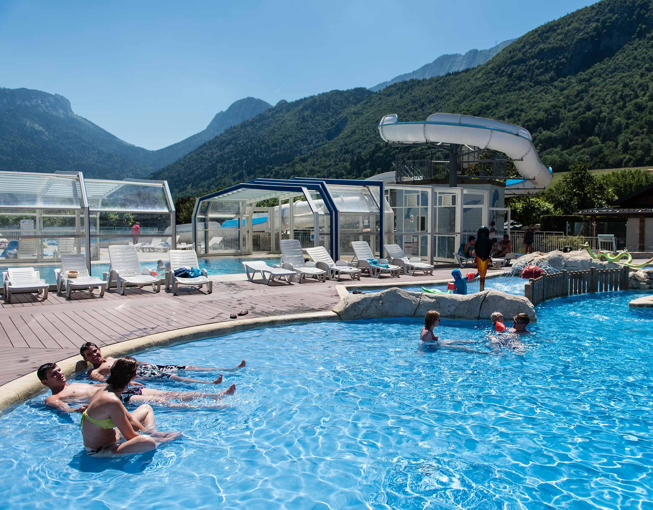 Camping L'idéal - Savoie Mont Blanc (Savoie Et Haute Savoie ... destiné Camping Chamonix Avec Piscine