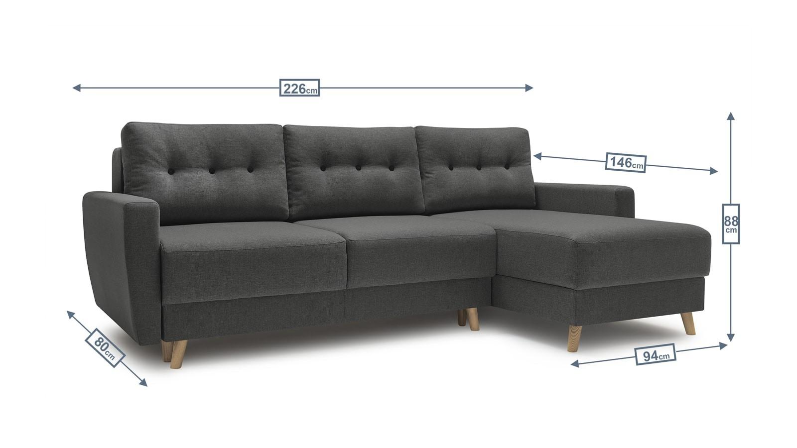 Canapé D'angle Convertible 3 Places En Tissu Gris Avec ... encequiconcerne Canapé Premium Confort Gris Anthracite