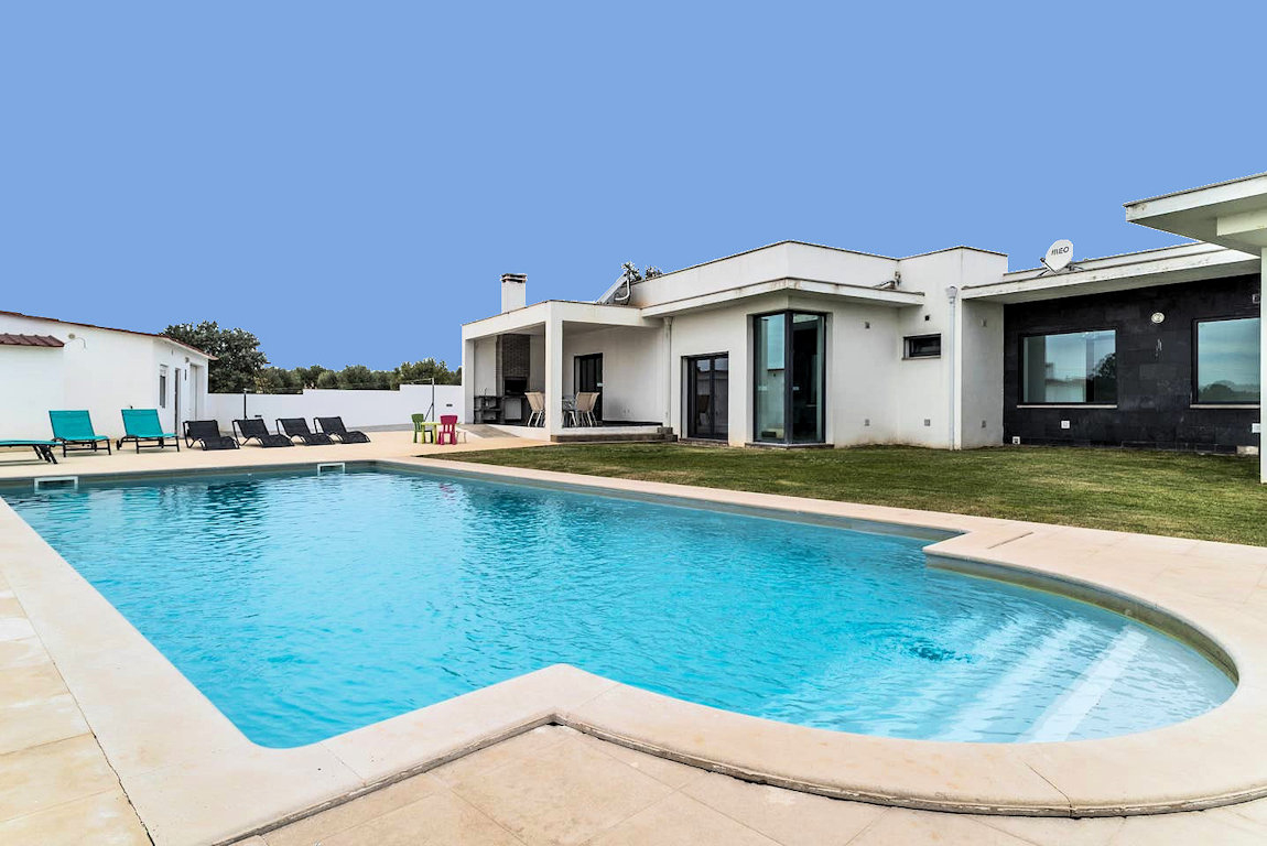 Casa Brunat, Villa Portugal - Piscine, Villa Tremês ... dedans Location Maison Portugal Piscine
