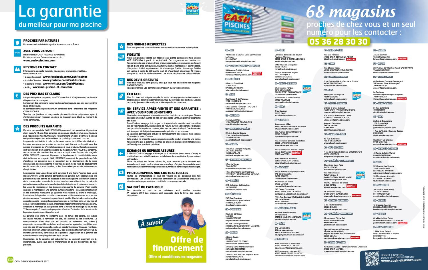 Catalogue Cash Piscine 2017 By Octave Octave - Issuu serapportantà Cash Piscine Bourgoin