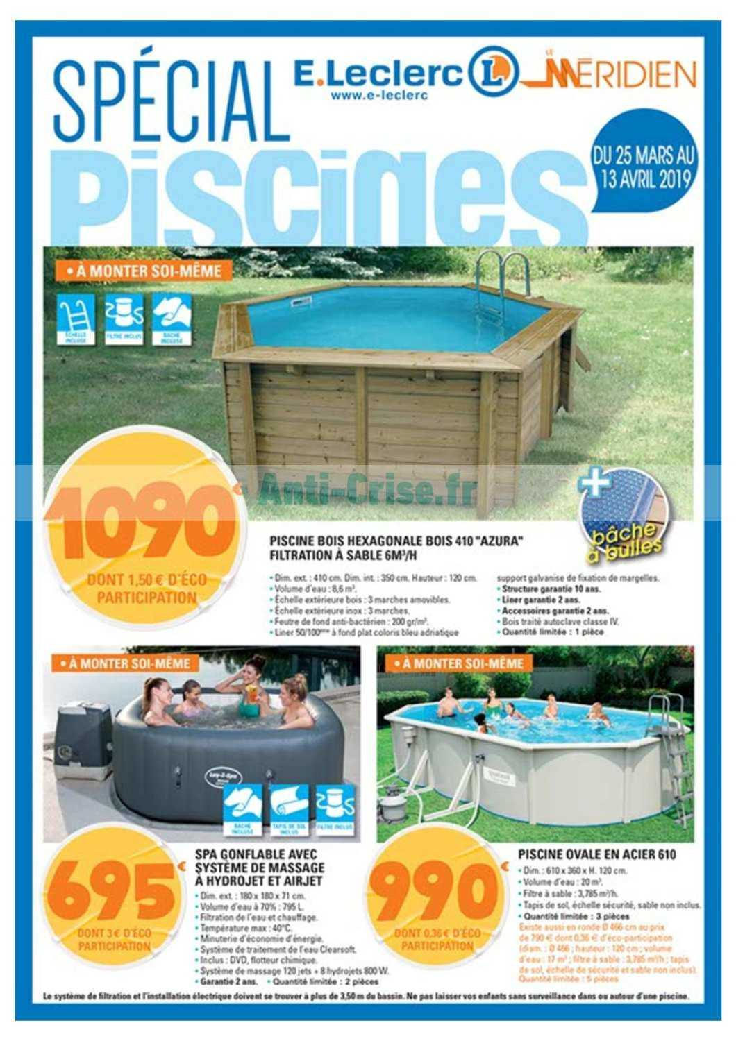 Catalogue Leclerc Local Du 25 Mars Au 13 Avril 2019 (Tarbes ... serapportantà Piscine Leclerc Promo
