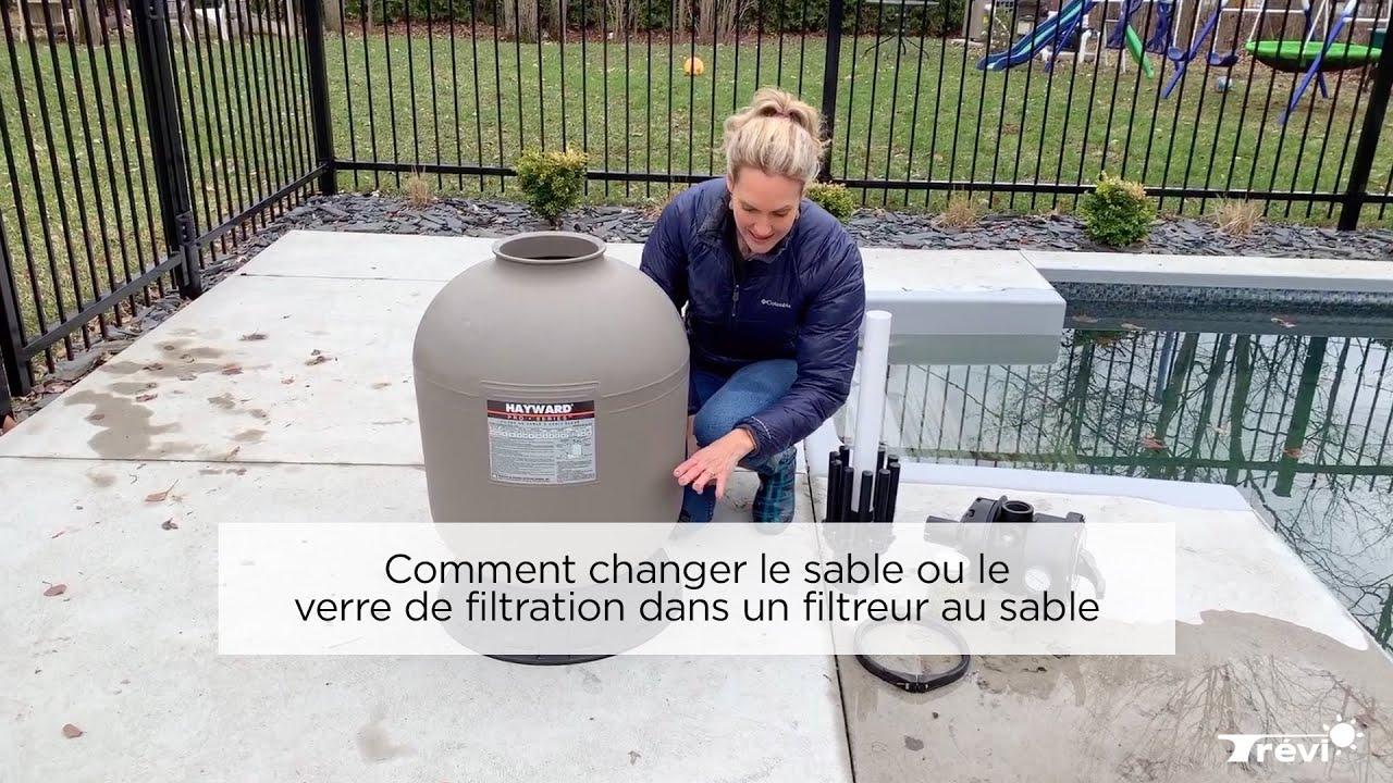 Comment Changer Le Sable Ou Le Verre De Filtration Dans Un Filtreur Au Sable à Sable Pour Pompe Piscine