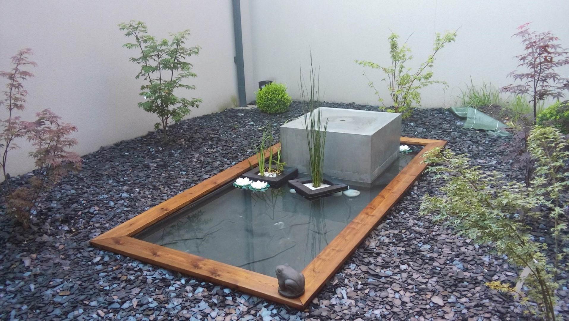 Concept Paysager : Jardin Contemporain Au Bouscat à Fontaine De Jardin A Debordement