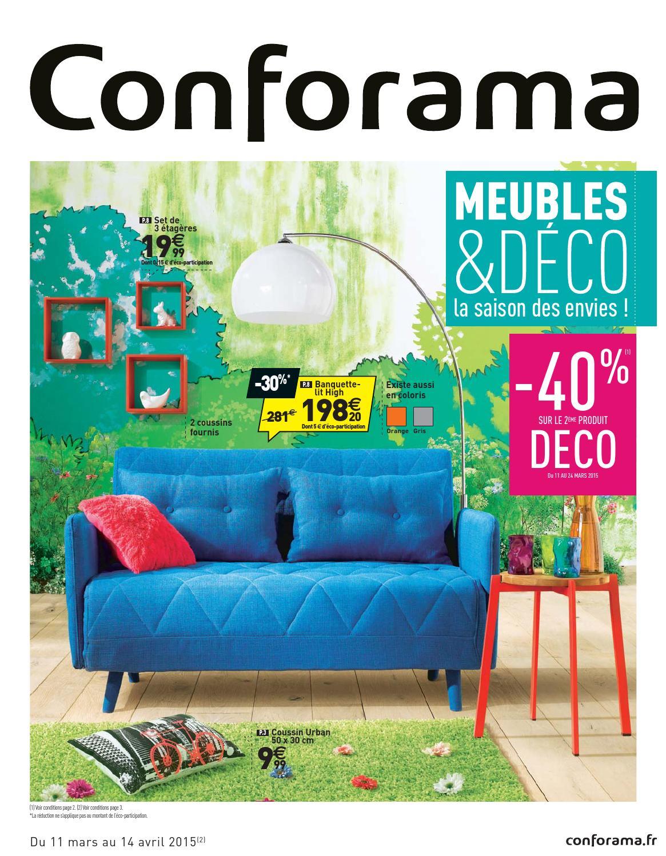 Conforama Catalogue 11Mars 14Avril2015 By Promocatalogues ... serapportantà Canapé Chelsea Conforama