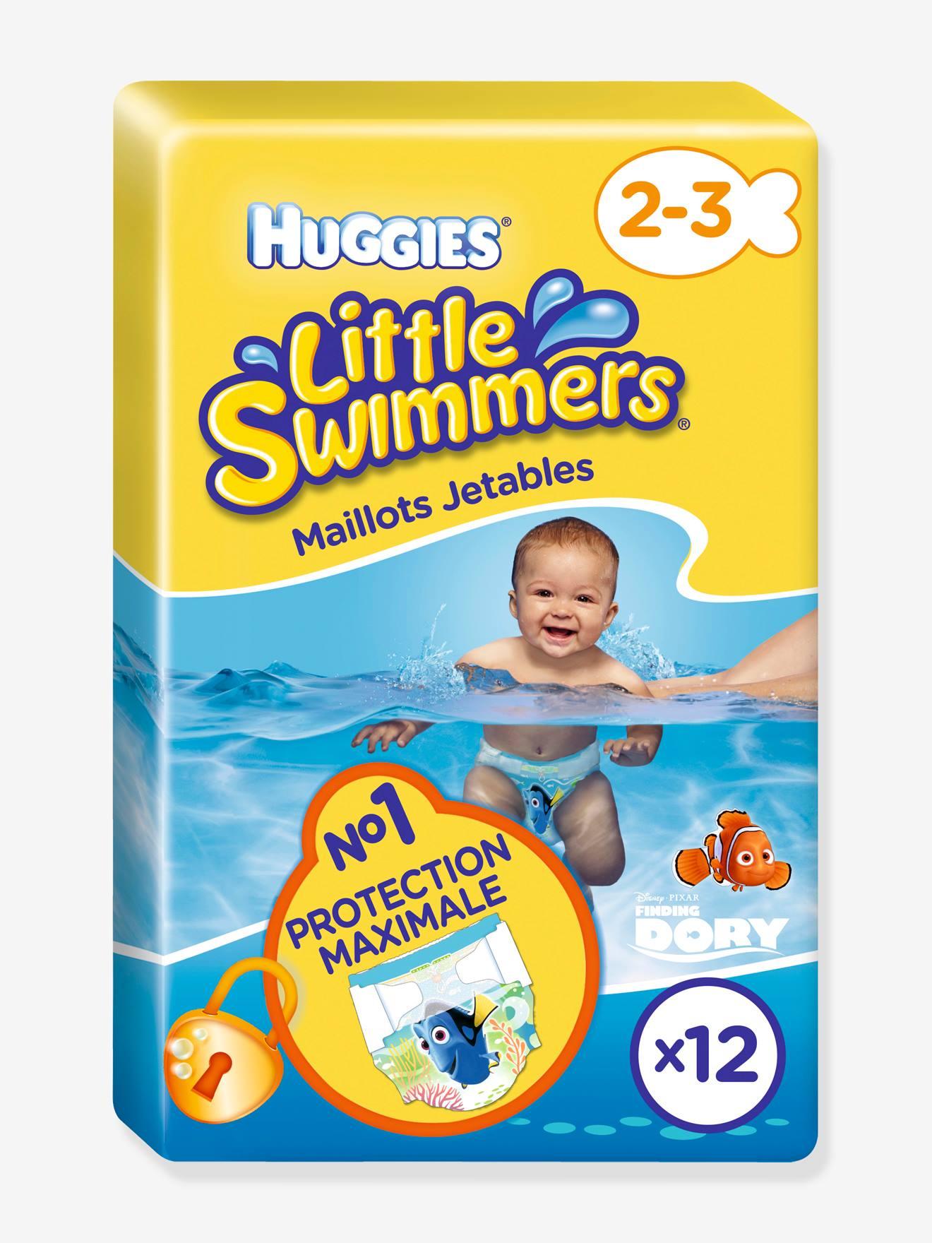 Couche De Piscine Jetable Huggies Little Swimmers, Taille 2-3, Lot De 12 -  Dory avec Couche Piscine Jetable