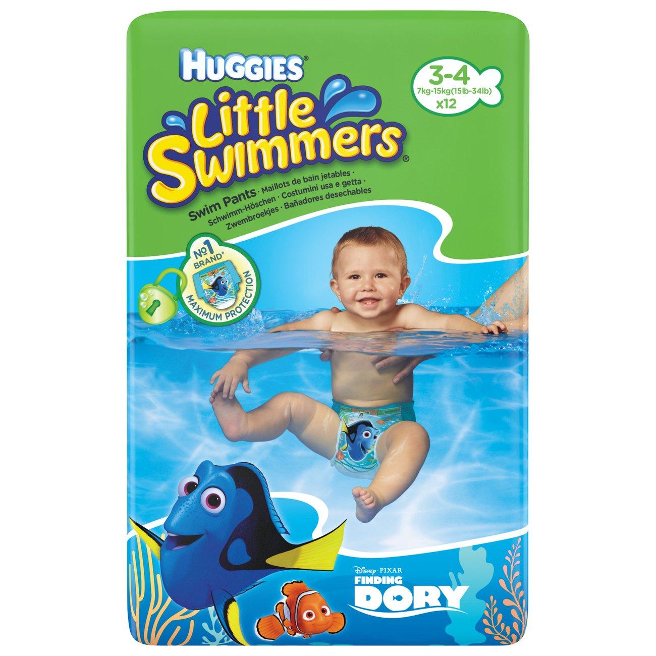Couche Piscine Natation Adulte Huggies Huggies Little Swimmers 3-4 à Couche Piscine Jetable