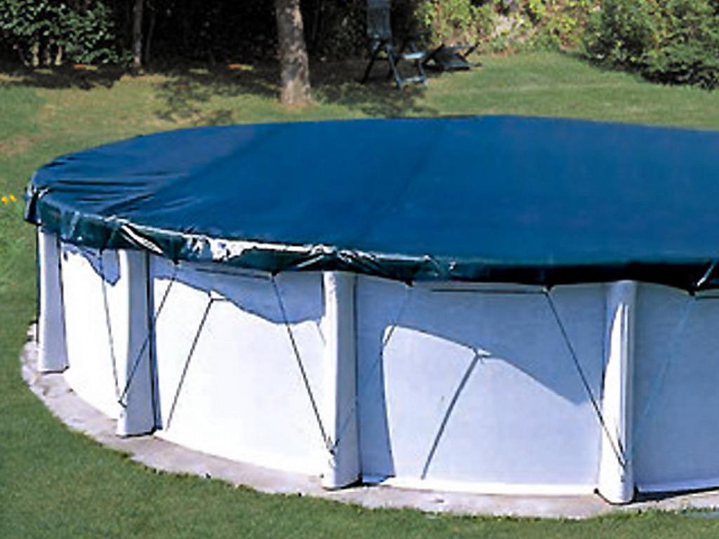 Couverture Protection Et Hivernage Filet Coverlux Ø880Cm Pour Piscine  Hors-Sol Ronde Ø820Cm à Bache Pour Piscine Hors Sol