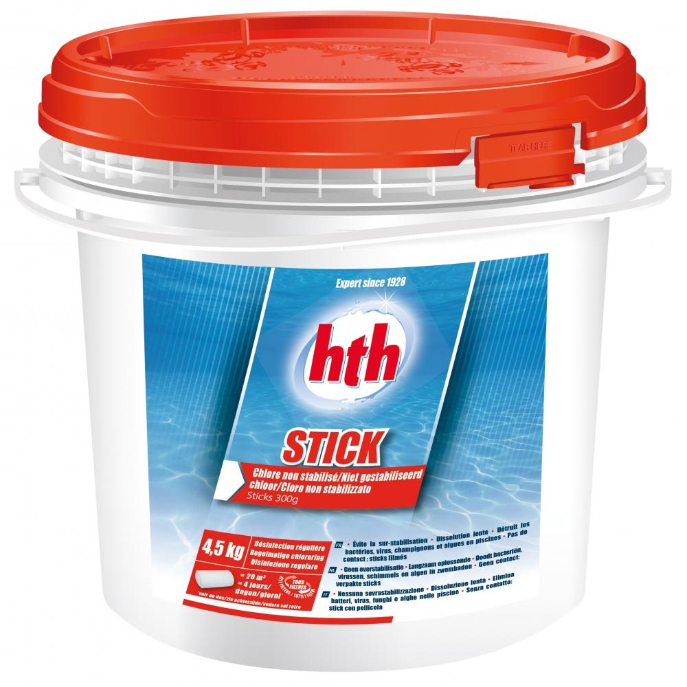 Désinfection Régulière À Base De Chlore Non Stabilisé Stick Hth intérieur Produit Piscine Hth