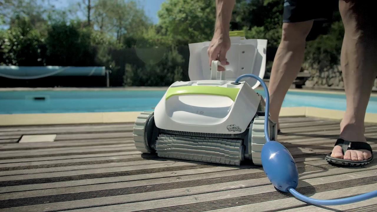 Dolphin T15 - Robot De Nettoyage Électrique Pour Piscine | Test Et Avis  Cabesto destiné Piscine Cabesto