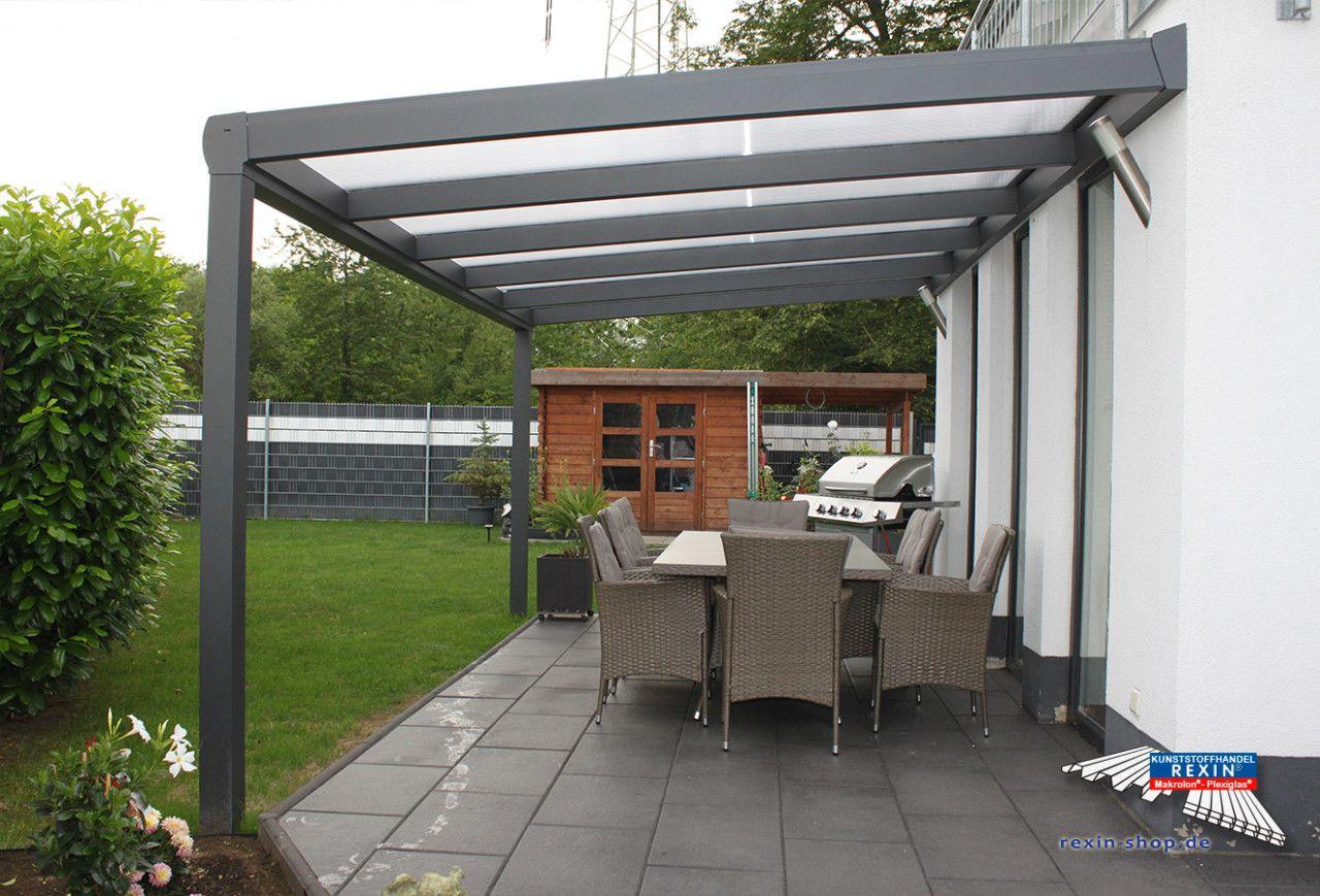 Ein Alu-Terrassendach Der Marke Rexopremium 5M X 3M In ... dedans Pergola Alu Rouen