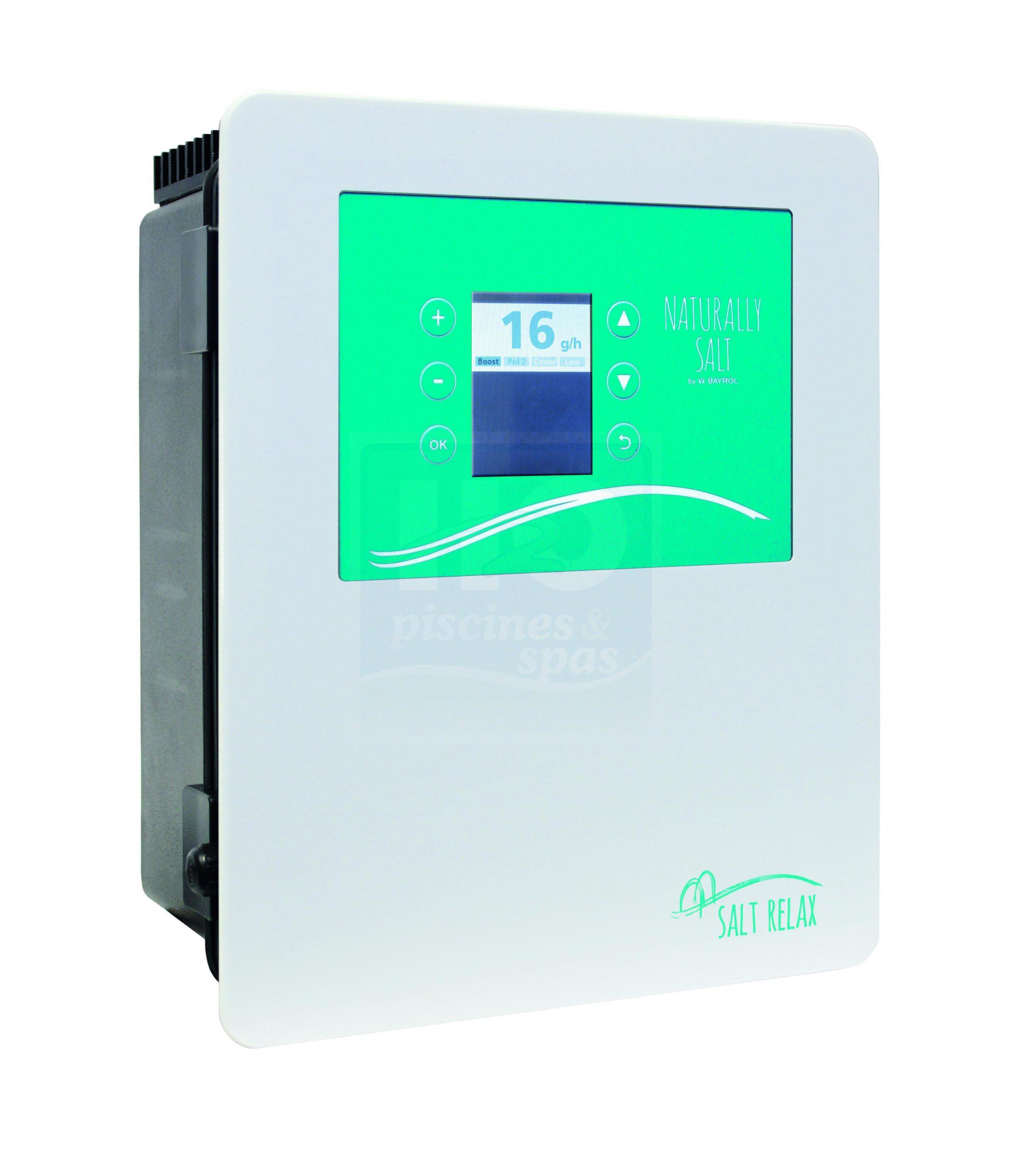 Électrolyseur Au Sel Bayrol Salt Relax Pour Piscine Jusqu'à 70 M3 - H2O  Piscines & Spas intérieur Electrolyseur Sel Piscine