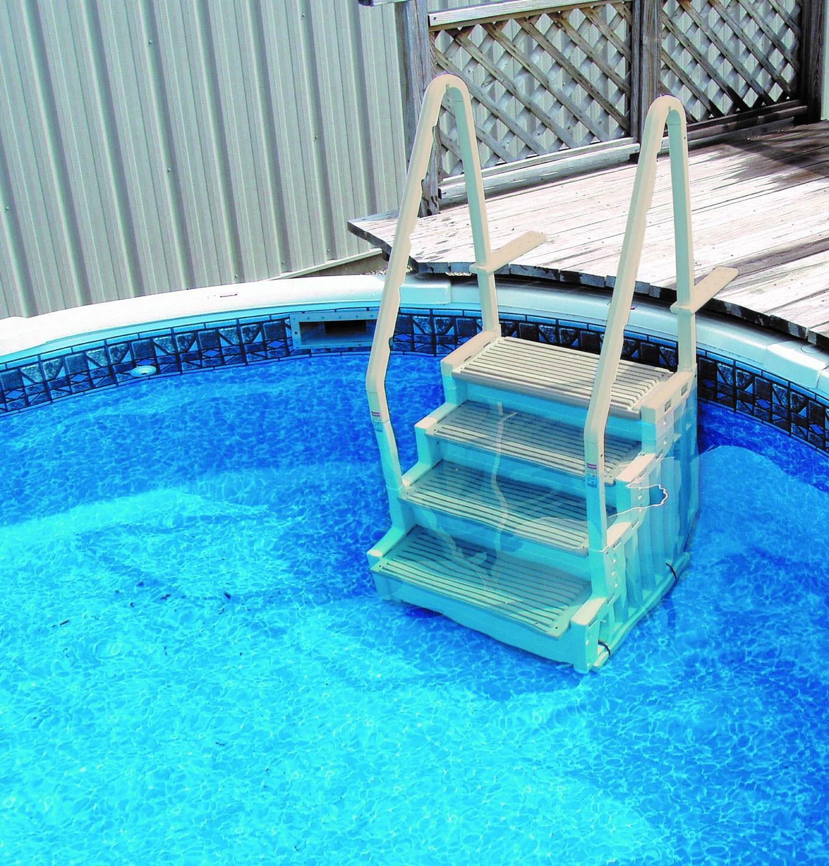 Escalier Intérieur Pour Piscine Logipool - H 122 Ou 147 Cm ... concernant Escalier Piscine À Poser Sur Liner